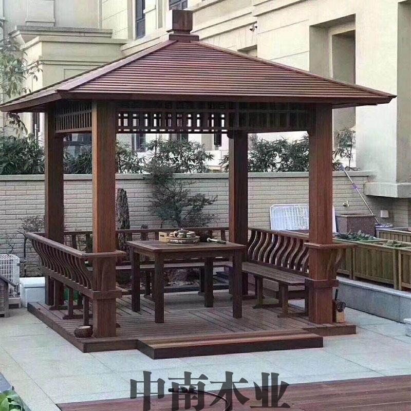 海南防腐木凉亭